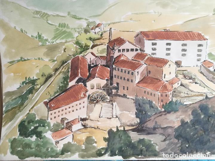 ACUARELA ORIGINAL JAUME CARBONELL CASTELL,,, (BARCELONA, 1942 - 2010). AÑOS 60  (Arte - Acuarelas - Contemporáneas siglo XX)