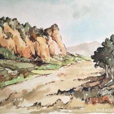 Arte: ACUARELA ORIGINAL JAUME CARBONELL CASTELL,,, (BARCELONA, 1942 - 2010). AÑOS 60 . Lote 83787956