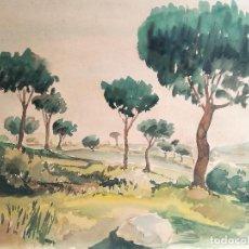 Arte: ACUARELA ORIGINAL JAUME CARBONELL CASTELL,,, (BARCELONA, 1942 - 2010). AÑOS 60 . Lote 83788108