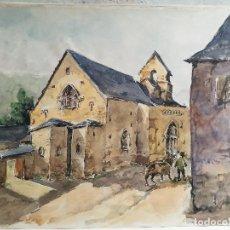 Arte: ACUARELA ORIGINAL JAUME CARBONELL CASTELL,,, (BARCELONA, 1942 - 2010). AÑOS 60 . Lote 83788304