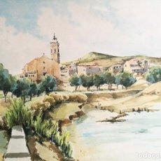 Arte: ACUARELA ORIGINAL JAUME CARBONELL CASTELL,,, (BARCELONA, 1942 - 2010). 1961. Lote 83788440