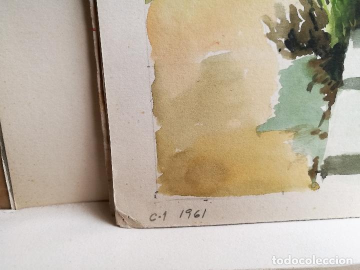 Arte: ACUARELA ORIGINAL JAUME CARBONELL CASTELL,,, (Barcelona, 1942 - 2010). 1961 - Foto 2 - 83788440