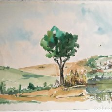 Arte: ACUARELA ORIGINAL JAUME CARBONELL CASTELL,,, (BARCELONA, 1942 - 2010). AÑOS 60. Lote 83789644