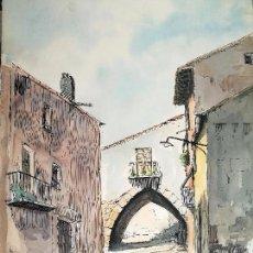 Arte: ACUARELA ORIGINAL JAUME CARBONELL CASTELL,,, (BARCELONA, 1942 - 2010). AÑOS 60. Lote 83790084