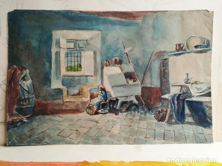 ACUARELA ORIGINAL JAUME CARBONELL CASTELL,(BARCELONA, 1942 - 2010). FIRMADA !!! (Arte - Acuarelas - Contemporáneas siglo XX)