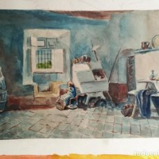 Arte: ACUARELA ORIGINAL JAUME CARBONELL CASTELL,(BARCELONA, 1942 - 2010). FIRMADA !!! . Lote 83790756