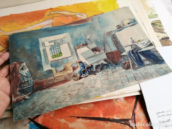 Arte: ACUARELA ORIGINAL JAUME CARBONELL CASTELL,(Barcelona, 1942 - 2010). FIRMADA !!! - Foto 3 - 83790756