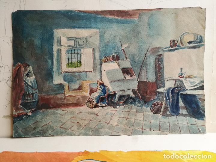 Arte: ACUARELA ORIGINAL JAUME CARBONELL CASTELL,(Barcelona, 1942 - 2010). FIRMADA !!! - Foto 5 - 83790756