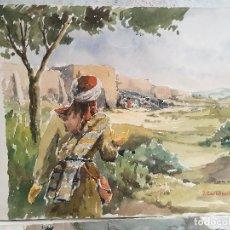 Arte: ACUARELA ORIGINAL JAUME CARBONELL CASTELL,(BARCELONA, 1942 - 2010). FIRMADA !!! 1961. Lote 83790960