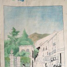 Arte: ACUARELA Y TINTA CHINA ORIGINAL JAUME CARBONELL CASTELL,(BARCELONA, 1942 - 2010). FIRMADA !!! 1965. Lote 83791176