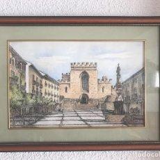 Arte: BONITA ACUARELA DE WENCESLAO 1996 SANTAS CREUS TARRAGONA.. Lote 83886900