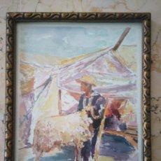 Arte: ACUARELA DE R. HANBALI. 19'5 X 25'5 CM. MARCO ANTIGUO.. Lote 84318704