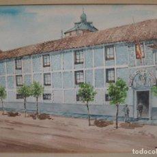 Arte: ACUARELA CON MARCO Y CRISTAL - COLEGIO MARIA CRISTINA - TOLEDO - FIRMADA.. Lote 84541452