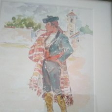 Arte: ACUARELA DEL PINTOR R. HANBALI. 28'5 X 32'5 CM.. MARCO ANTIGUO.. Lote 84739824