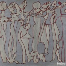 Arte: ISABEL SERRAHIMA (1934-1999) ACUARELA Y ROTULADOR SOBRE PAPEL SARDANAS 3/3 SIGLO XX FIRMADA. Lote 84757644