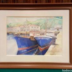 Arte: MARINA ENMARCADA. ACUARELA FIRMADA POR MELCHOR AVECILLA ESPINOSA (VALLADOLID 1923-2006).. Lote 84779196