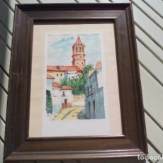 Arte: PINTURA, ACUARELA. VÉLEZ-MÁLAGA, IGLESIA DE SAN JUAN BAUTISTA. CUADRO ENMARCADO,DESCONOZCO EL PINTOR. Lote 85029508