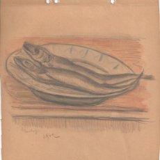 Arte: HENRI BOULAGE PINTOR POST IMPRESIONISTA MONMARTRE PARIS FRANCE FRANCIA LAPIZ Y ACUARELA. Lote 85461076