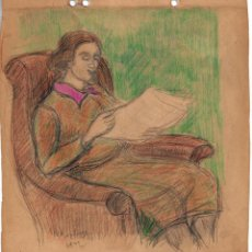 Arte: HENRI BOULAGE PINTOR POST IMPRESIONISTA MONMARTRE PARIS FRANCE FRANCIA LAPIZ Y ACUARELA. Lote 85461408