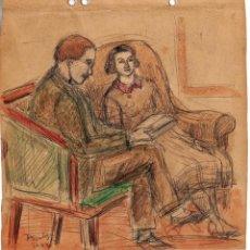 Arte: HENRI BOULAGE PINTOR POST IMPRESIONISTA MONMARTRE PARIS FRANCE FRANCIA LAPIZ Y ACUARELA. Lote 85461532