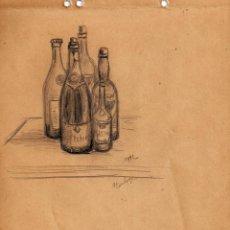 Arte: HENRI BOULAGE PINTOR POST IMPRESIONISTA MONMARTRE PARIS FRANCE FRANCIA LAPIZ Y ACUARELA. Lote 85464928