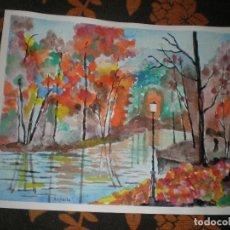 Arte: PAISAJE INSPIRADOR,30 X 40,ACUARELA,LLEVANDO DOS ENVIO GRATIS. Lote 85644260