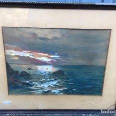 Arte: JOSÉ MARÍA GARCÍA MARQUÉS (1862-1936) PINTOR ESPAÑOL - ACUARELA - MARINA. Lote 86058484