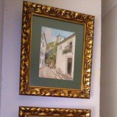 Arte: ACUARELA PETEN PAREJA DE ACUARELAS ORIGINALES Y ENMARCADAS, DE GUADALEST Y FINESTRAT DE ALICANTE. Lote 86113340