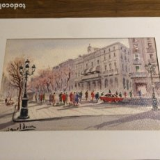 Arte: MAGNÍFICA ACUARELA DE MIGUEL DORNA. Lote 86342403