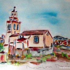 Arte: SANT QUIRZE DEL VALLES ACUARELA ORIGINAL ÚNICA FIRMADA Y CERTIFICADA. Lote 86491912