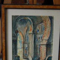Arte: ACUARELA IGNACIO DORAO MORRIS (MÁLAGA 1969). MEDIDAS 38X30 CM FIRMADA. Lote 86939468