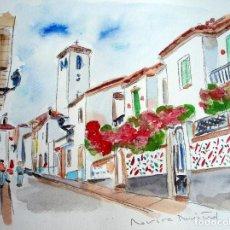 Arte: CALLES DEL ALBAYCIN - ACUARELA ORIGINAL ÚNICA FIRMADA Y CERTIFICADA -. Lote 86942040