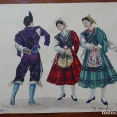 Arte: DIBUJOS DE TRAJES Y BAILES DE ESPAÑA, 24 X 17 APROXIMADAMENTE, BUENDÍA, ASTURIAS EL PERICOTE. Lote 87160440
