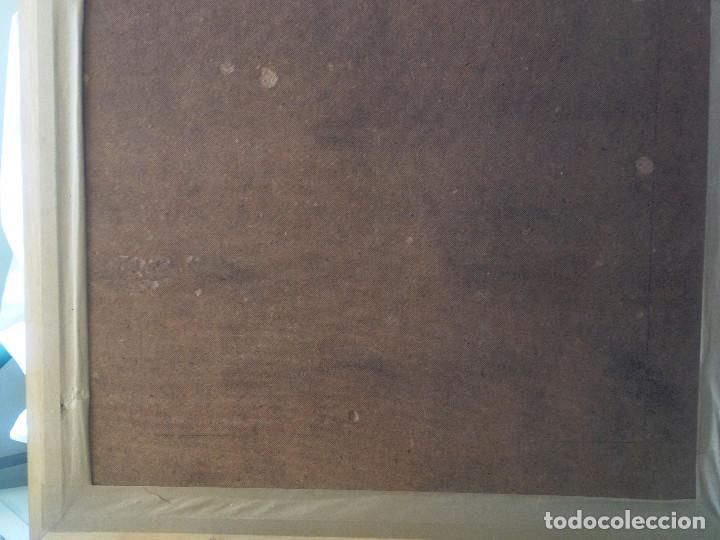Arte: Cuadro ACUARELA, tamaño grande, doble enmarcado, tapiceria rustica y marco madera- FIRMADO - Foto 4 - 87436128