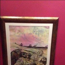 Arte: LAS TRES CARABELAS ( AGUSTÍN PEREZ BELLAS ) 1.981. Lote 87547484