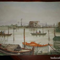 Arte: JUAN MARTORELL, PERELLO 82, TRES ACUARELAS 35X25. Lote 87691728