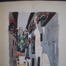Arte: ACUARELA SOBRE PAPEL GRUESO=VISTA DE GRANADA=FIRMADO POR M.TRABADO-MEDIDAS 30 X 21 .. Lote 88153332