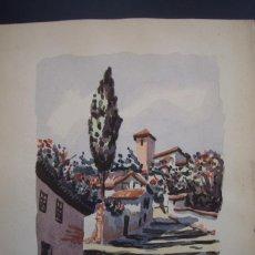 Arte: ACUARELA SOBRE PAPEL GRUESO=VISTA DE GRANADA=FIRMADO POR M.TRABADO-MEDIDAS 30 X 21 .. Lote 88153836