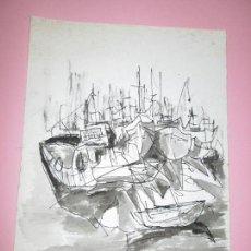 Arte: ACUARELA-ALFREDO ROLDÁN-BUEN ESTADO-VER FOTOS.. Lote 88209144