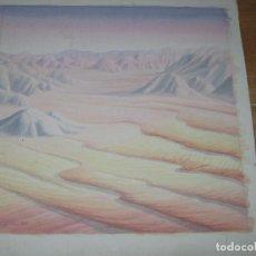 Arte: ACUARELA PINTURA DE ALICANTE MARTINEZ ALCARAZ AÑOS 80 DUNAS REALIZADA EN CARTON. Lote 42568463