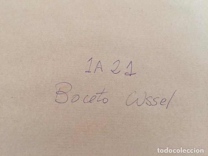 Arte: ACUARELA BOCETO ALEGORÍA DEL COMERCIO, FIRMADO WSSEL - 1000-005 - Foto 13 - 43135690