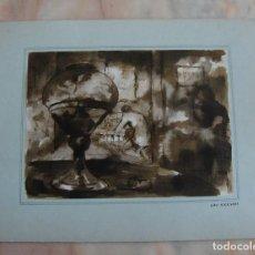 Arte: LOTE 20 ACUARELAS ORIGINALES VAL.LERY LLOFREU PARA GUION LITERARIO CARGAMENTO DE FUEGO. Lote 89115188