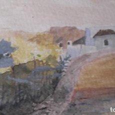 Arte: ACUARELA PAISAJE ANTIGUA FIRMADA LEOPOLDO MERIDA (MALAGA). Lote 89416708