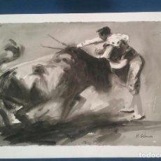 Arte: ACUARELA ESCENA TAURINA. Lote 89662696