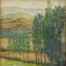 Kunst - Acuarela y gouache sobre papel Paisaje siglo XX - 89667324