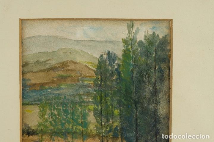Arte: Acuarela y gouache sobre papel Paisaje siglo XX - Foto 3 - 89667324