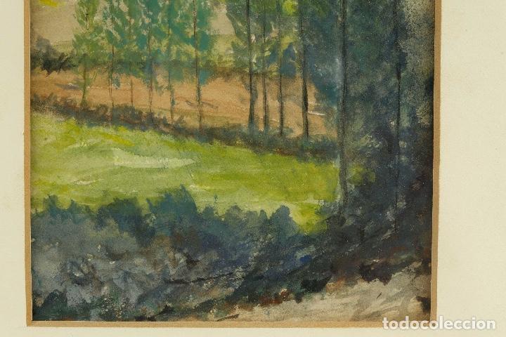 Arte: Acuarela y gouache sobre papel Paisaje siglo XX - Foto 4 - 89667324