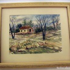 Kunst - Acuarela enmarcada del pintor LLUIS PARDO 1974 - 89755196