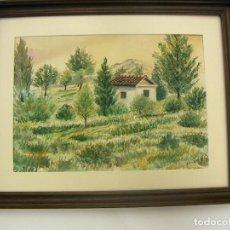 Arte: ACUARELA ENMARCADA DEL PINTOR JORDI GUILLEM 63. Lote 89755460