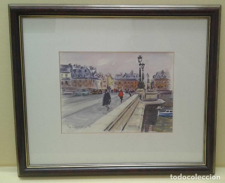 Arte: Acuarela de Pepe Antequera. (Paris 1998) - Foto 2 - 90361252